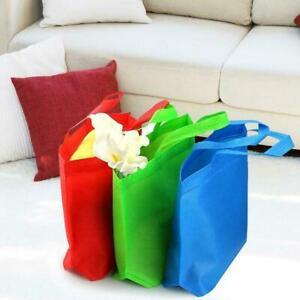 Grosse-Einkaufstaschen-Vliesstoffe-Wiederverwendbare-Tragetaschen-waschbare-J1J6