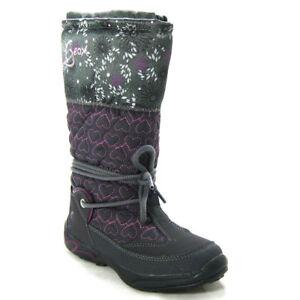 pretty nice ee80f 4d0ae Details zu GEOX TEX Mädchen Winterstiefel warm gefütterte Stiefel Winter  Schuhe Snowboots