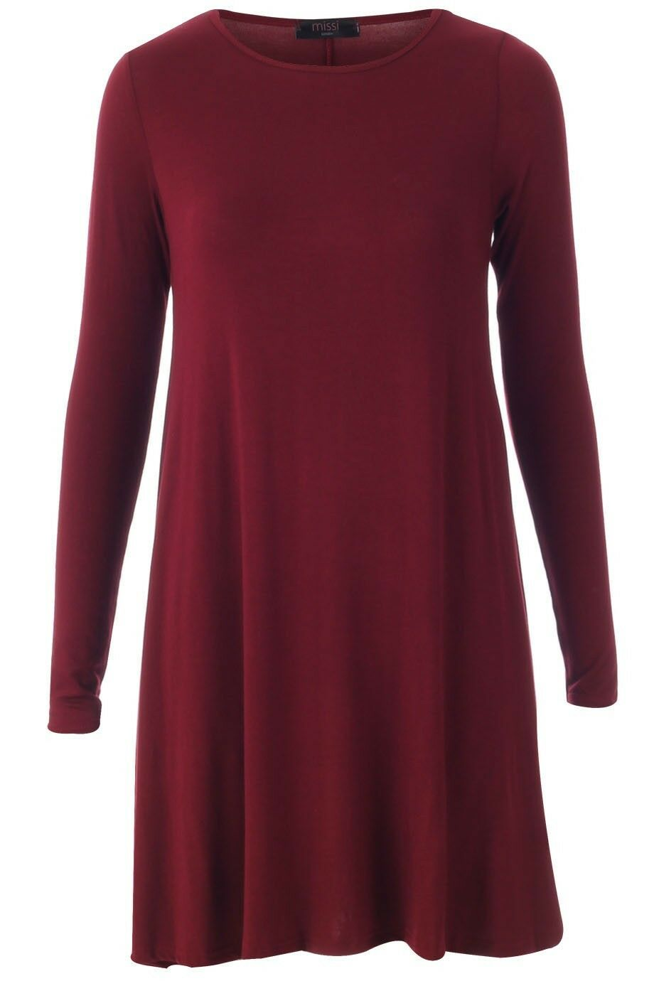 Mesdames à femmes celebrity inspiré tartan skater évasée robe swing à Mesdames manches longues top ca239b