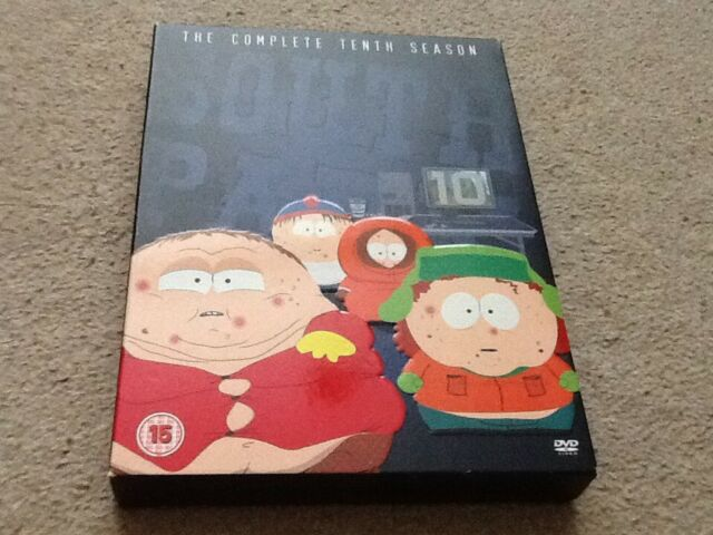 South Park - Series 10 (DVD, 2009, 3-Disc Set, Box Set)