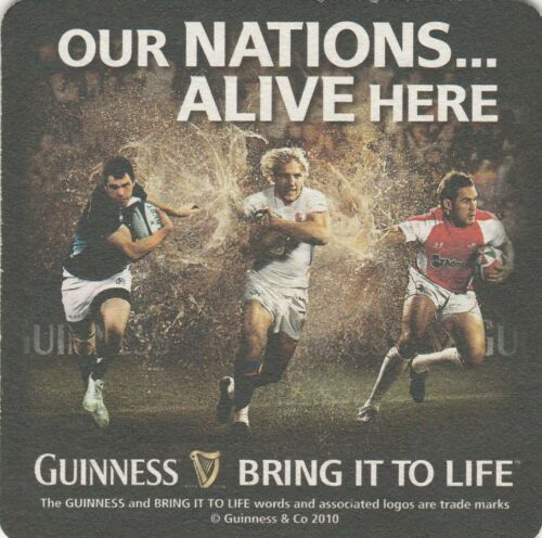 Cat 1711 2010 UNUSED MAT- GUINNESS - OUR NATIONS ALIVE HERE -