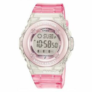 Casio-BG-1302-4ER-Pink-Baby-G-Shock-Water-Resistant-Watch-with-World-Time-New