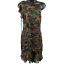 NWT-Veronica-Beard-Multi-Color-Floral-One-Sleeve-Silk-Dress-Women-039-s-Size-12 miniatuur 1