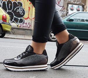 Woden Patent Ella Cuir Sneaker Mesh Noir Black V r4HxrqEw