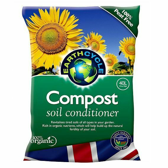 Suttons Seeds Earth Cycle Compost, Soil Conditioner, 1x 40 Litre Bag
