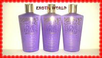 Victoria's Secret Untamed Lotions - Love Spell 8.4 Fl Oz (limited Edition) 3 Pcs