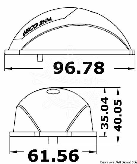 Osculati Evoled Navigationslichter Navigationslichter Evoled VA-Stahl Gehäuse poliert 24209e