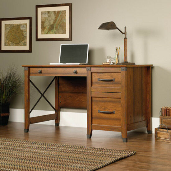 Sauder 412920 Carson Forge Desk Washington Cherry For Sale Online