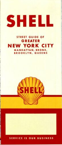 1957 Shell Road Map Greater New York City NOS
