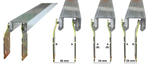 2x-A 2x-B Laufrolle Rollbeschlag Schiebetürsystem Hängetür Rolltor Beschlagset