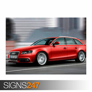 Car Poster 0742 Photo Picture Poster Print Art A0 A1 A2 A3 A4 AUDI A4 AVANT