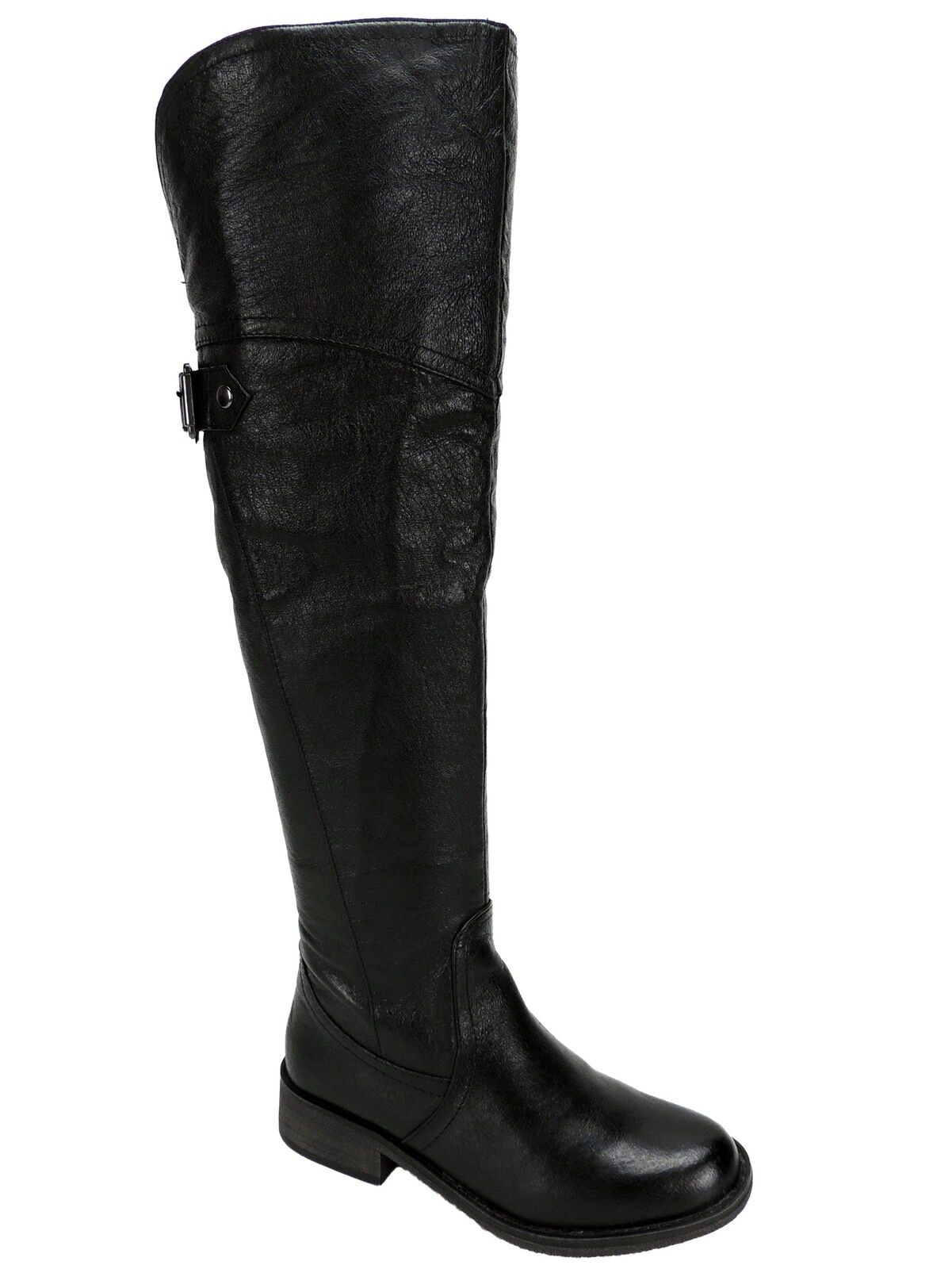 Steve Madden Women's Women's Women's OTK Boots Black Leather Over-The-Knee Boot Size 5 1 2 M 531f14