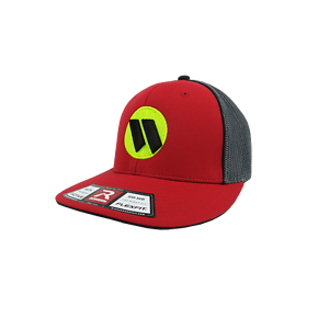 R165 Worth Hat by Richardson Red//Graphite//Red//Volt//Black sm//md