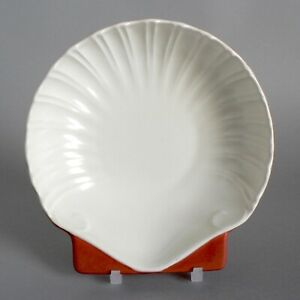 POOLE-POTTERY-RED-INDIAN-amp-MAGNOLIA-6-5-034-SCALLOP-SHELL-DISH-1950-039-S-TWINTONE-C95