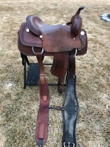 "17"" Genuine Billy Cook, Cutting Saddle - EUC"