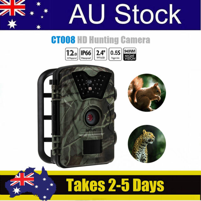 1080P HD 12MP Security Camera Trail Cam Night Vision Monitoring Motion Detection