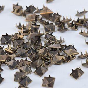 100PCS Metal Square Pyramid Rivet Stud Creative Spikes For Clothes Bag