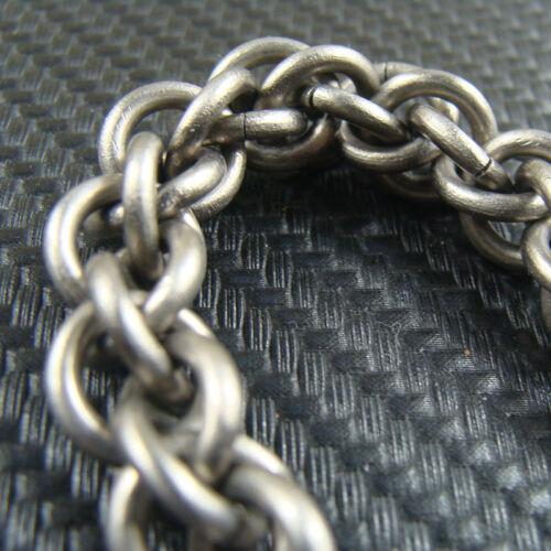 Titane anti-allergie Handmade 10 mm Chaîne Pour Portefeuille Sac chain fob key chain
