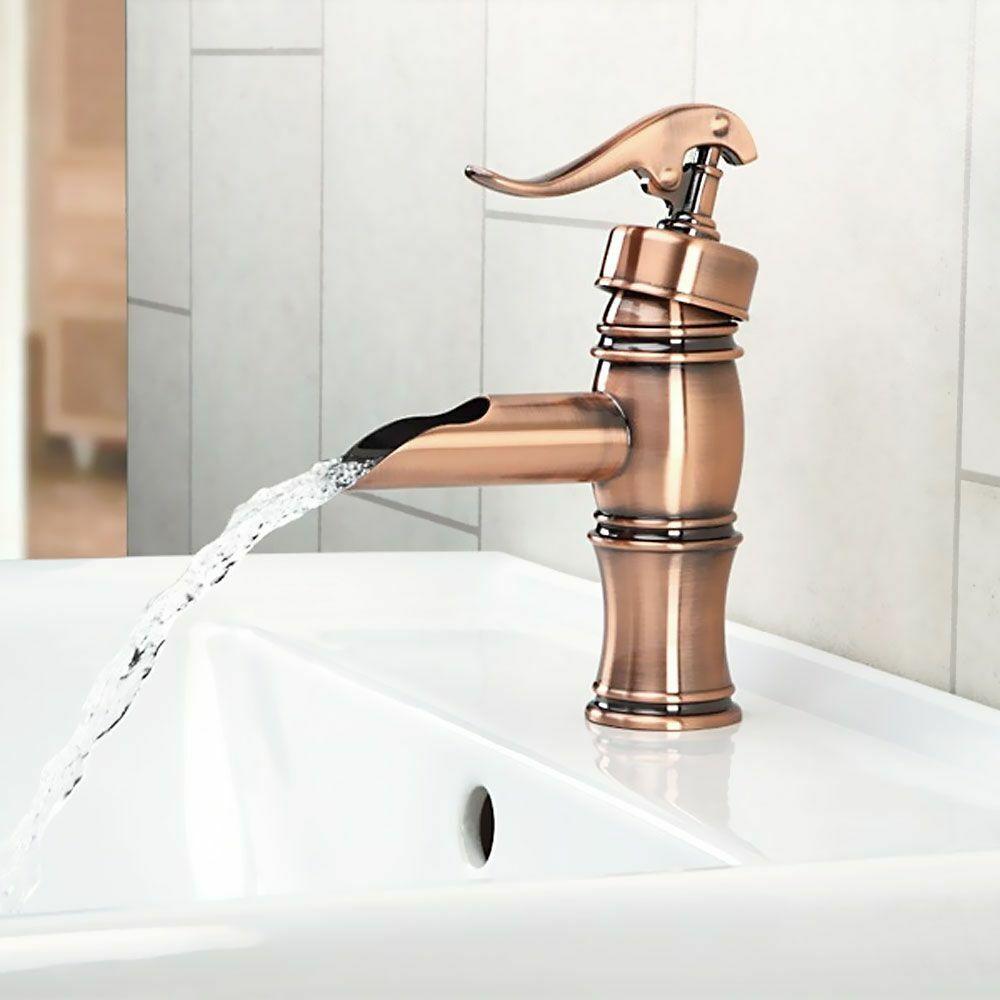 Nostalgia Retro miscelatore lavabo pompa bronzo rouge