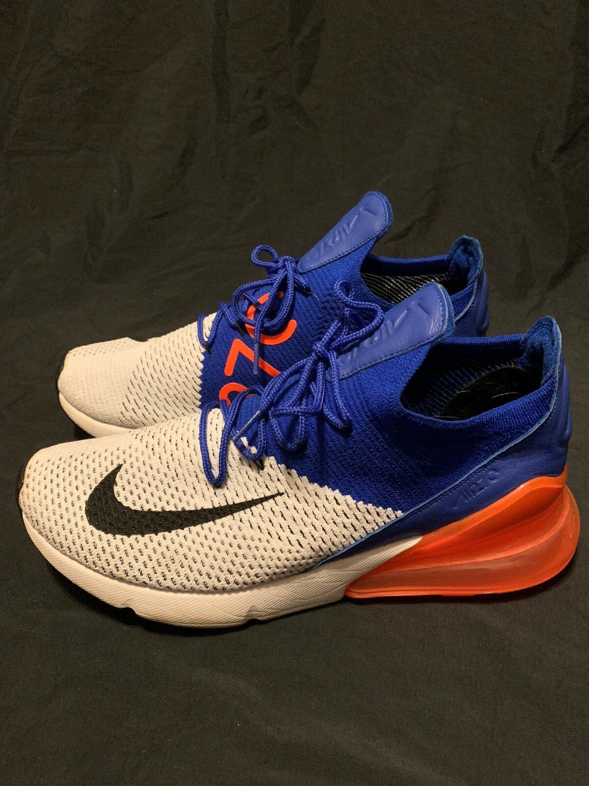 Nike Air Max 270 Flyknit Racer bluee Bright Red NYK Size 12