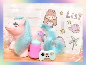 ❤️My Little Pony MLP G1 Vtg Newborn Twin BABY Sniffles Pink Blue Hair❤️