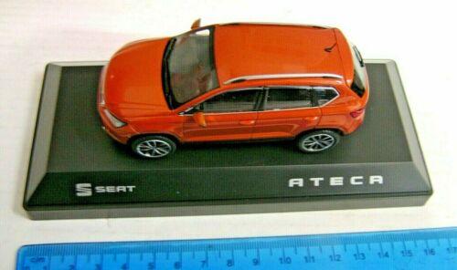 Asiento Ateca Modelo de Coche 1:43 escala Samoa Naranja 6H1099300GAO Nuevo Original