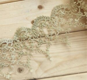 Gold-Costume-Craft-Lace-Edging-Bridal-Evening-Dress-Embroidery-Guipure-Ribbon