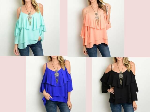 4 Colors Off the Shoulder TopRT16-CN290221RT4-CN290224,RT9-CN290226,RT4-CN290230