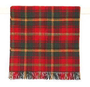Dark Maple Tartan Picnic Blanket Throw
