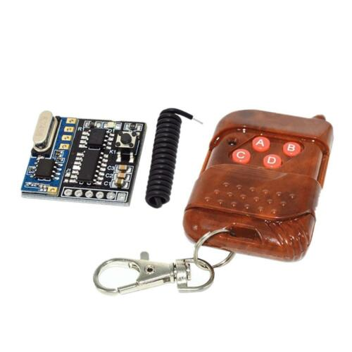 4 CH DC 5V RF Wireless Remote Control Switch Receiver Mahogany Transmitter