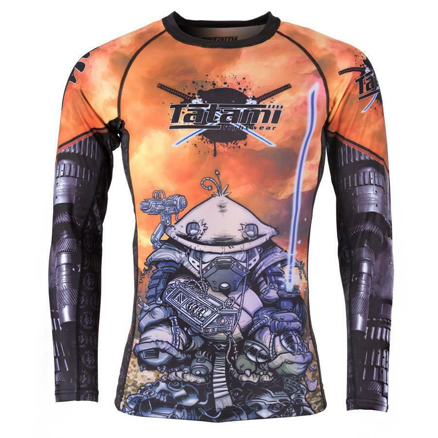 Tatami Cyber Samurai Panda Rash Guard BJJ No-Gi MMA Jiu Jitsu Compression Top
