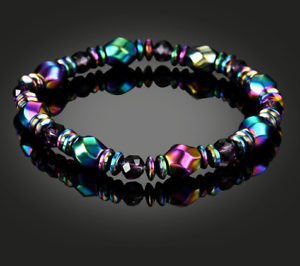 Men-Bracelet-Black-Colorful-Beads-Crystal-Magnetic-Bracelet-Health-Care-Bangle