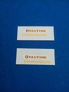 (Tr 118) DINKY TOYS 481 BEDFORD OVALTINE decalcomanie transfer