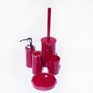 Details zu 5tlg Badset Badgarnitur Badezimmer Wc Garnitur Set Schiefer  Seifenspender BD013