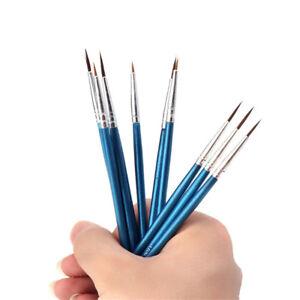 5//10 Pcs Point Tip Nylon Fiber Hair Line Drawing Pen Artist Paint Brush Cake