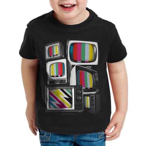 Image de Test T-Shirt Enfants Big Bang TV Moniteur Theory VHS TV Home cinéma cinéma