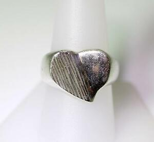 Vintage Sterling Silver Mexico Taxco TC-186 Heart Ring Size 9 ...