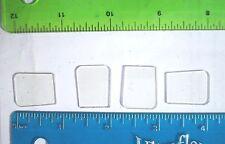 20ct Small Square Crankbait Lips/Bills/Bibs, Bass Lures/Baits,Wooden Crankbaits