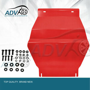 RED-Steel-Bash-Plate-fits-Toyota-Prado-120-Series-Front-Sump-Guard-4mm-Thick