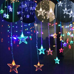 ✅LED Lichterkette Lichtvorhang Hochzeit Weihnachten Party Deko für Innen Außen✅