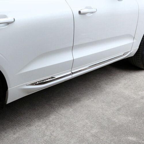 ABS Chrome Side Door Body Bottom Stripe Cover Trim 4pcs For Volvo XC60 2018-2019