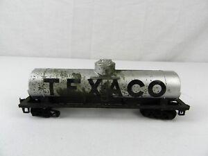 HO-Scale-034-Texaco-Ol-034-Single-Dome-Tank-Gueterzug-Auto-Silber-Eisenbahn