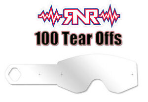 100/% Goggle Tear off/'s X 20 by Rip n Roll Strata Racecraft to fit Accuri