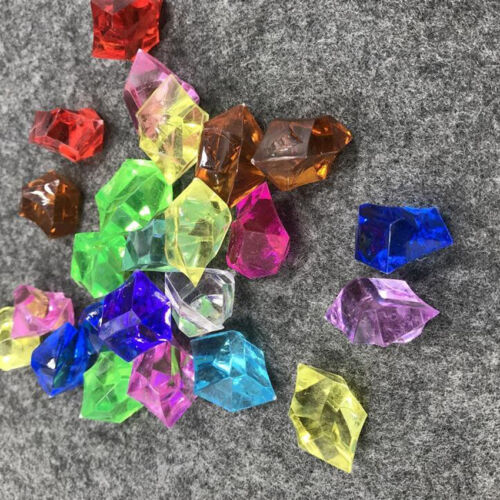 10pc Acrylic Gems Ice Crystal Rocks For Vase Fillers Party Table Scatter Wedding