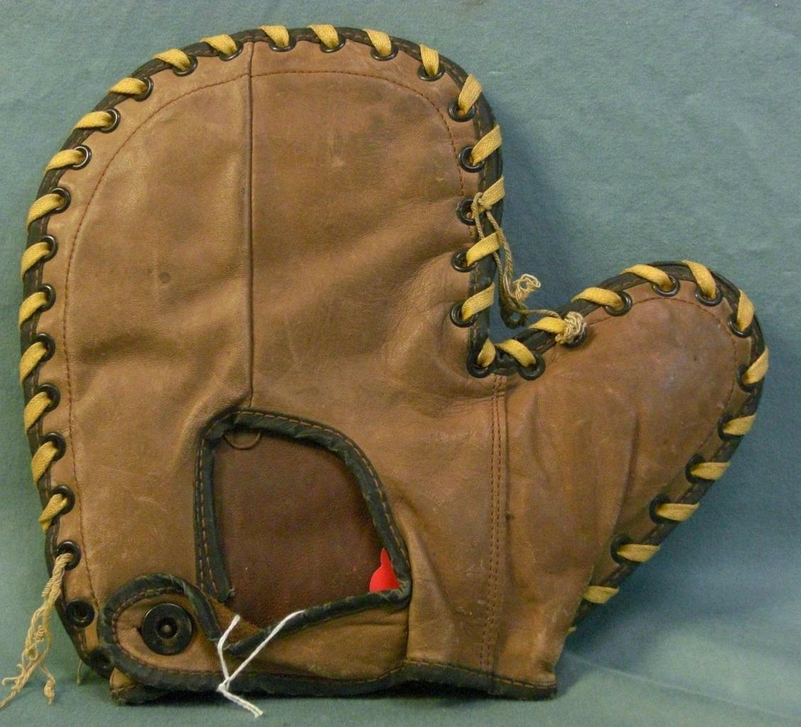 Vintage BLS Athletic Artikeln First Baseman Mitt Baseball Handschuh Handschuh Handschuh 1930s 591ms e3c086