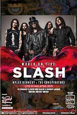 "SLASH ""WORLD ON FIRE LIVE IN MALAYSIA 2015"" KUALA LUMPUR CONCERT TOUR POSTER"