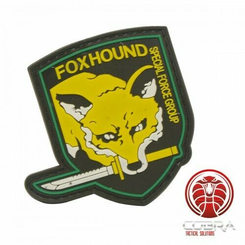 FOXHOUNDSpecial Force Group 3D PVC patch yellow with velcro
