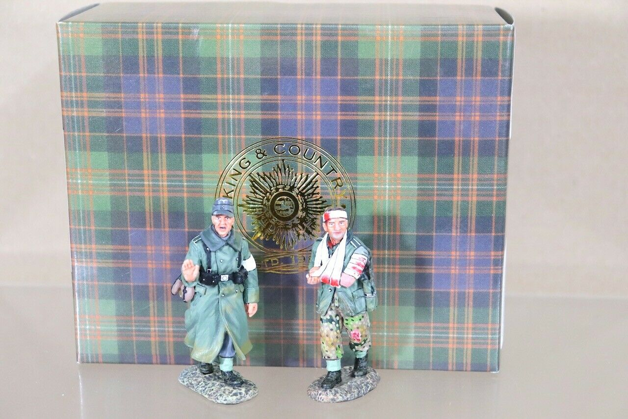 KING & COUNTRY WSS174 WWII GERMAN FORCES FORCES INFANTRY WALKING WOUNDED SET nu