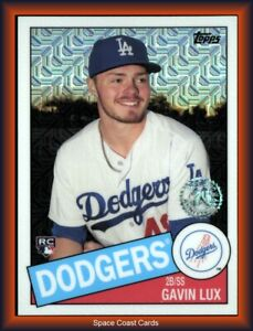 GAVIN LUX 2020 Topps Series 1 SILVER PACK Rookie Refractor Card #85C-48 DODGERS