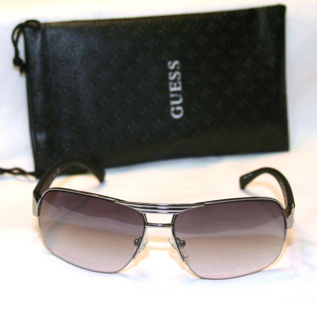 Genuine GUESS Man GU6774-GUN-35 Men/'s Aviator Sunglasses Black Lens GUNMETAL NEW